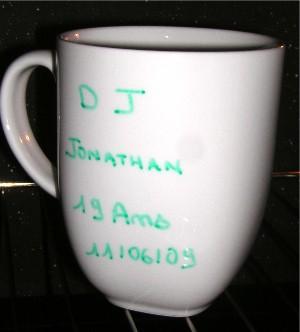 tasse au four