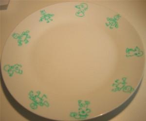 assiette décorée