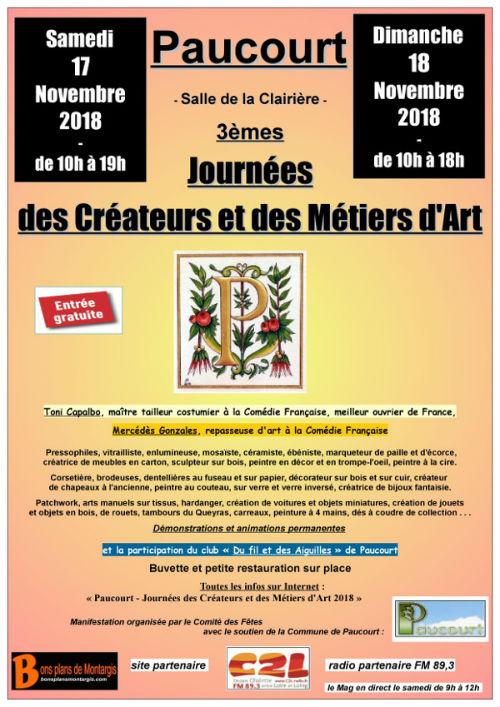 Affiche des Journées des Créateurs et des Métiers d'Art 2018