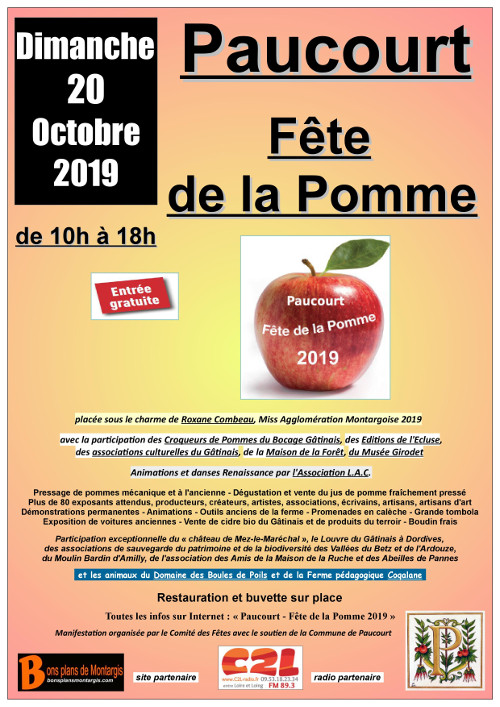 Affiche de la Fête de la Pomme 2019