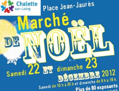 AFFICHE MARCHE DE NOEL CHALETTE 22 23 DEC